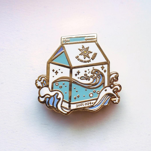 Summer Milk Enamel Pin