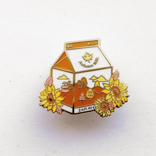 Autumn Milk Enamel Pin